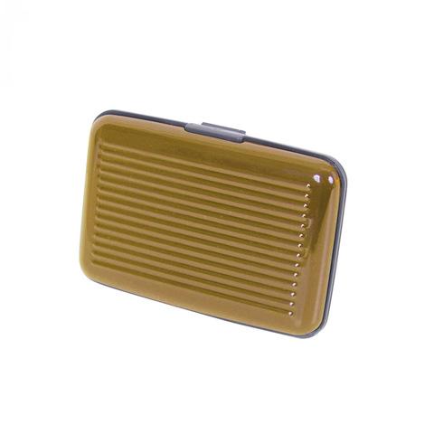 Кейс-кредитница защитная металлическая из алюминий для кредитных карт Security Credit Card Wallet золотистая