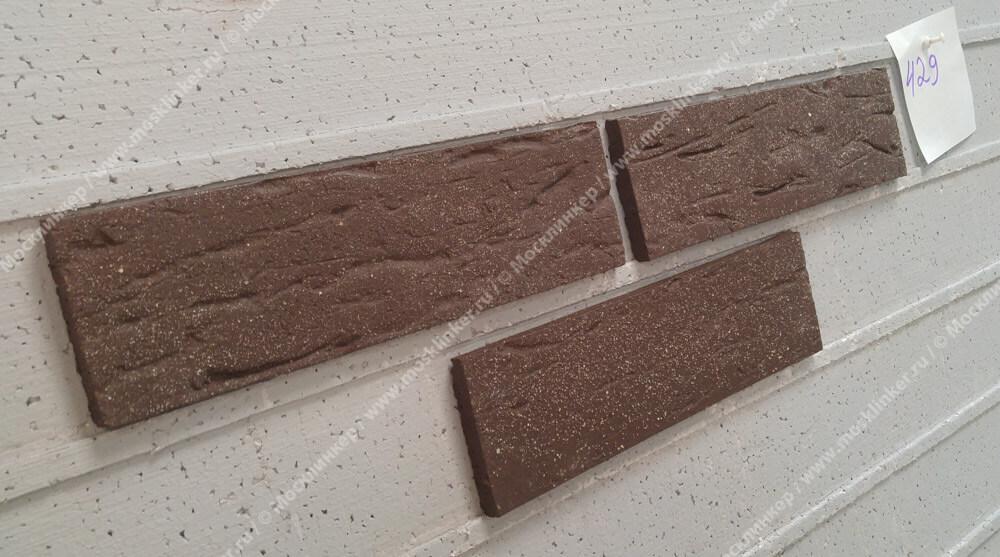Stroeher, плитка-клинкер под кирпич, цвет 429 aardenburg, серия Keraprotect, неглазурованная, поверхность под шагрень с посыпкой, 240x71x11