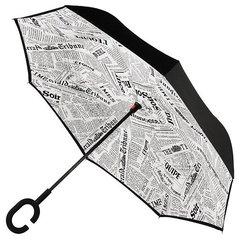 Зонт наоборот Белая газета