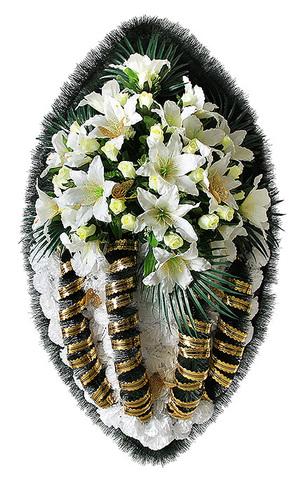 Ритуальный венок 110 см элитный №26