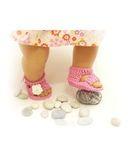 Вязаные босоножки - На кукле. Одежда для кукол, пупсов и мягких игрушек.