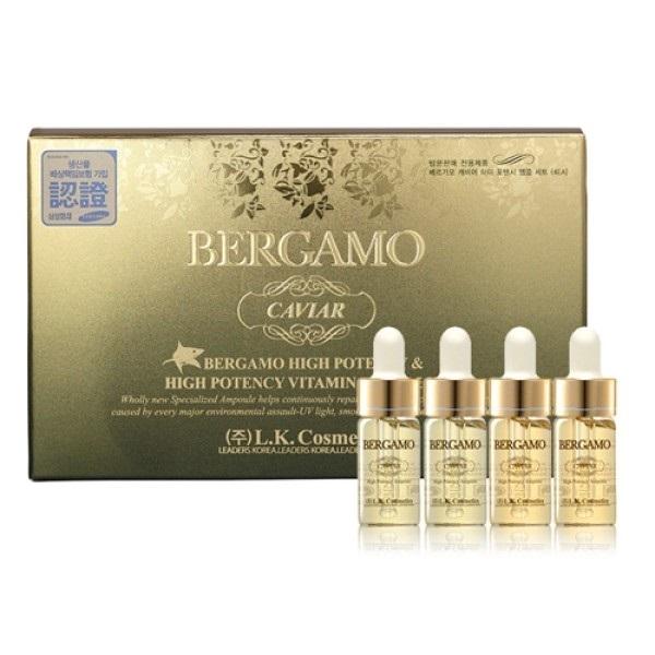 Сыворотка ампульная с экстрактом икры для витаминизации кожи Bergamo Caviar High Potency Vitamin Ampoule 4x13мл