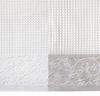 Набор полотенец 2 шт Devilla Favo белый/натуральный