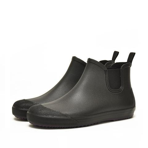 Резиновые ботинки Nordman Beat черные с фиолетовой подошвой
