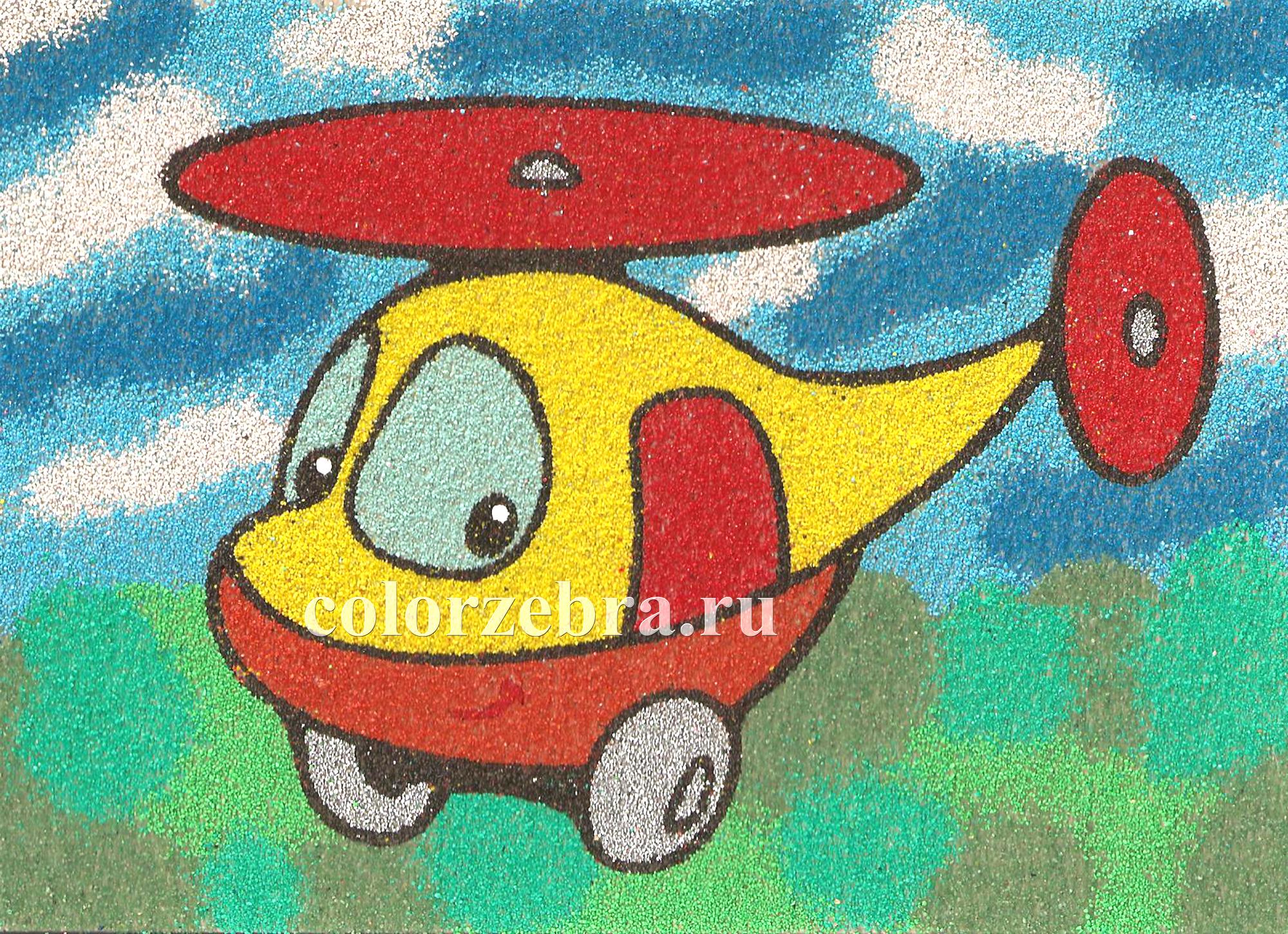 Трафарет для песка Вертолет А4
