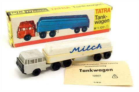Tatra 813 tankwagen Milch 12507 VEB Modell-Konstrukt TT 1:120