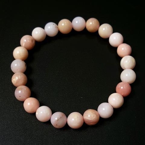Бусины опал розовый А шар гладкий 8,3 мм 23 бусины
