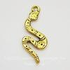 """Подвеска """"Змейка"""" (цвет - античное золото) 26х11 мм"""