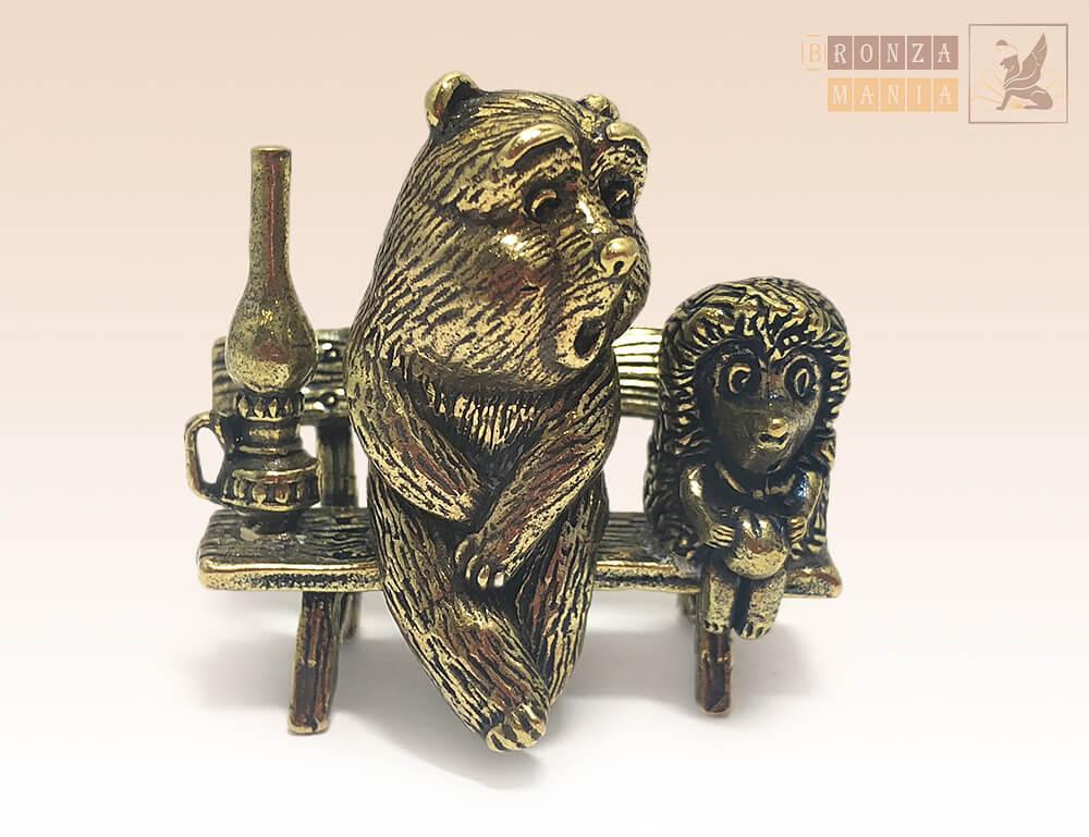 фигурка Ежик с медвежонком
