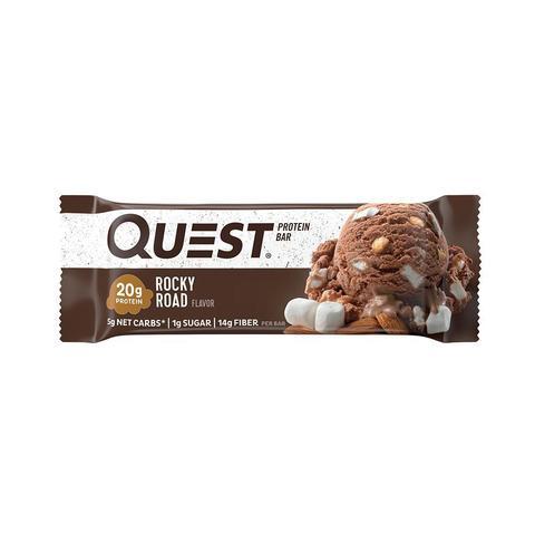 Quest Bar Rocky Road, 60гр (12шт) Протеиновые батончики Зефир и Шоколад