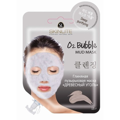 Skinlite Глиняная пузырьковая маска «Древесный уголь» SL-630