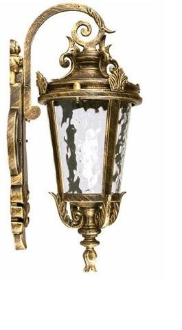 Светильник садово-парковый, 60W 230V E27 черное золото, IP44, PL4002 (Feron)