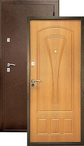 Дверь входная Уральские двери УД-104, 2 замка, 1,2 мм  металл, (медь антик+миланский орех)