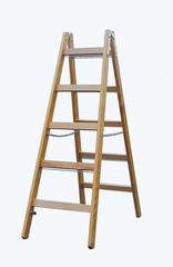 Двусторонняя лестница из дерева, с перекладинами, 2 х 5 перекладин