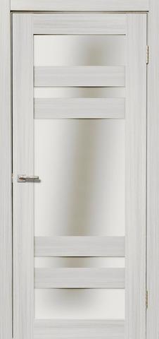 Дверь Дера Мастер 639, стекло белое, цвет сандал белый, остекленная