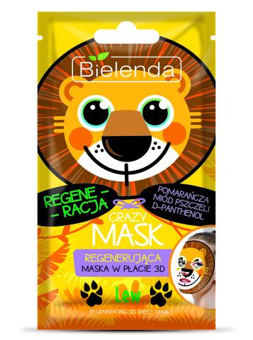CRAZY MASK Восстанавливающая тканевая маска Лев, шт