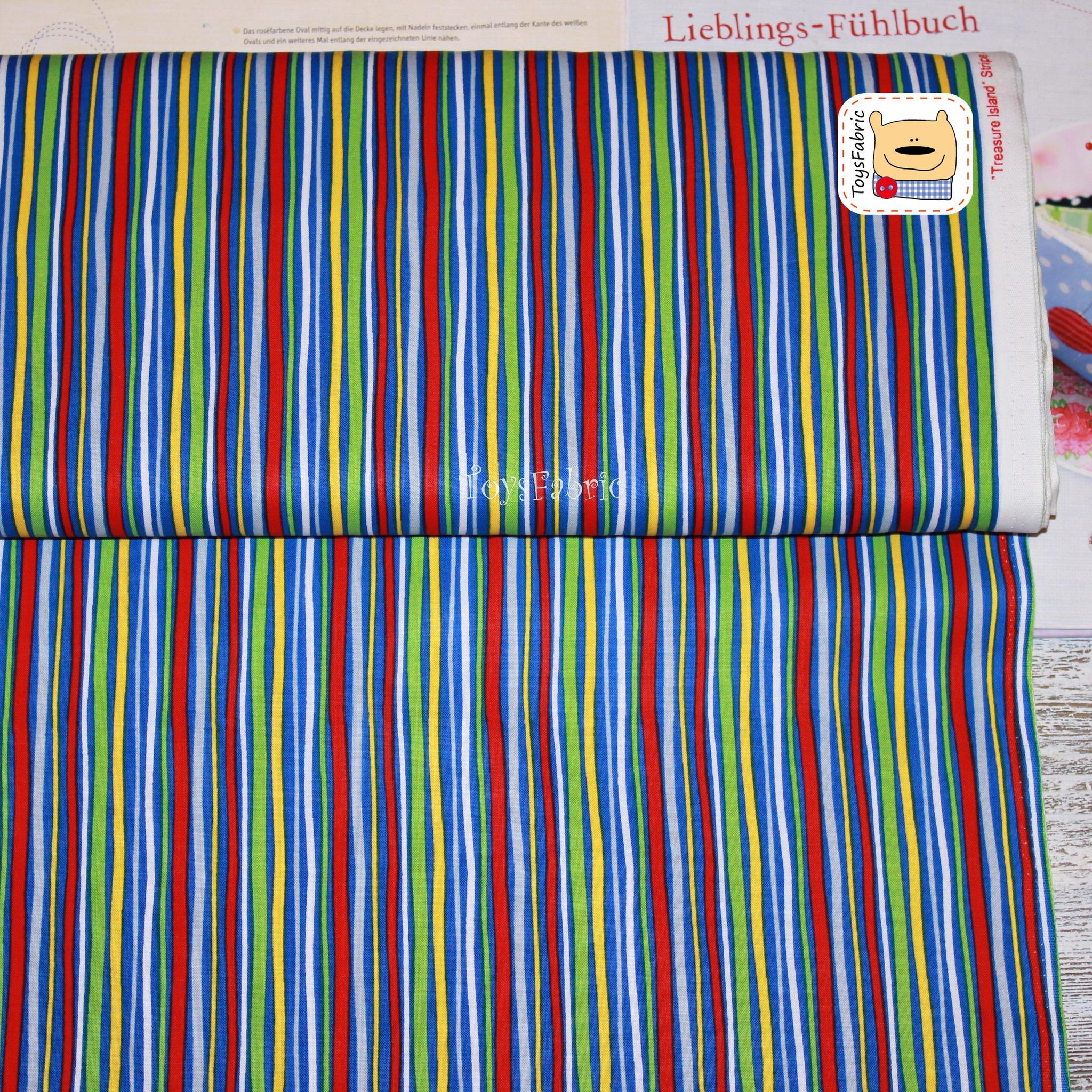 e856f61aeb8 Ткань для пэчворка 20792 (сине-цветная полоска) 45х55см - купить по ...
