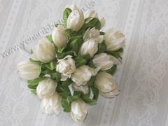 Букет Тюльпаны тканевые кремовые