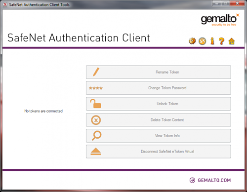SafeNet Authentication Client (SAC)