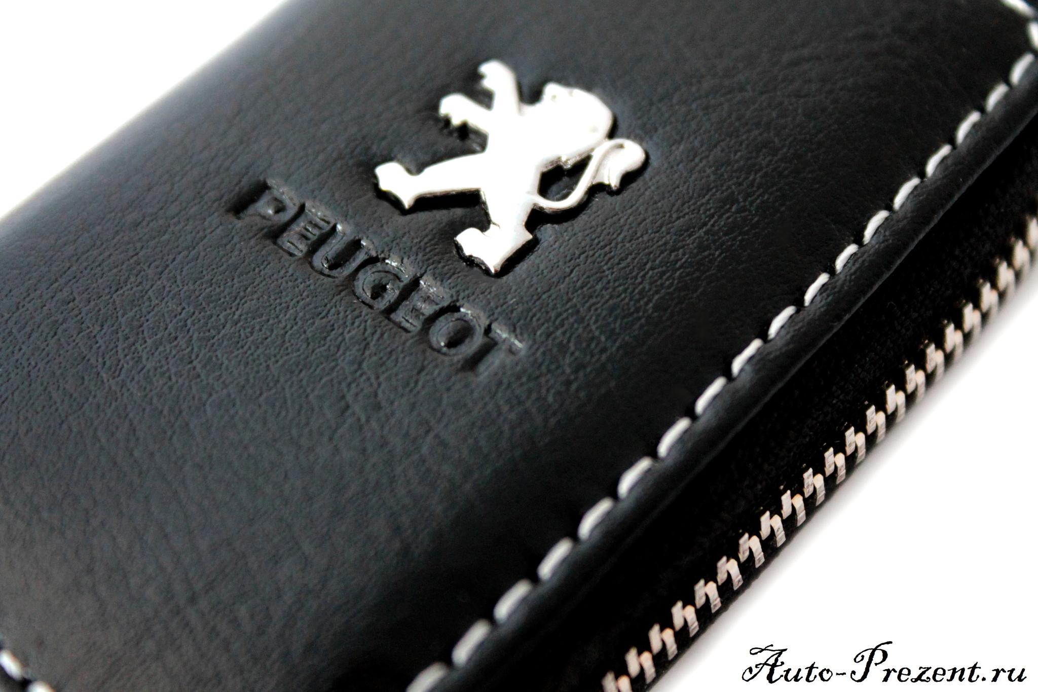 Кожаный чехол для ключа с логотипом PEUGEOT
