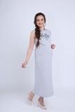 Платье 08730 серый меланж