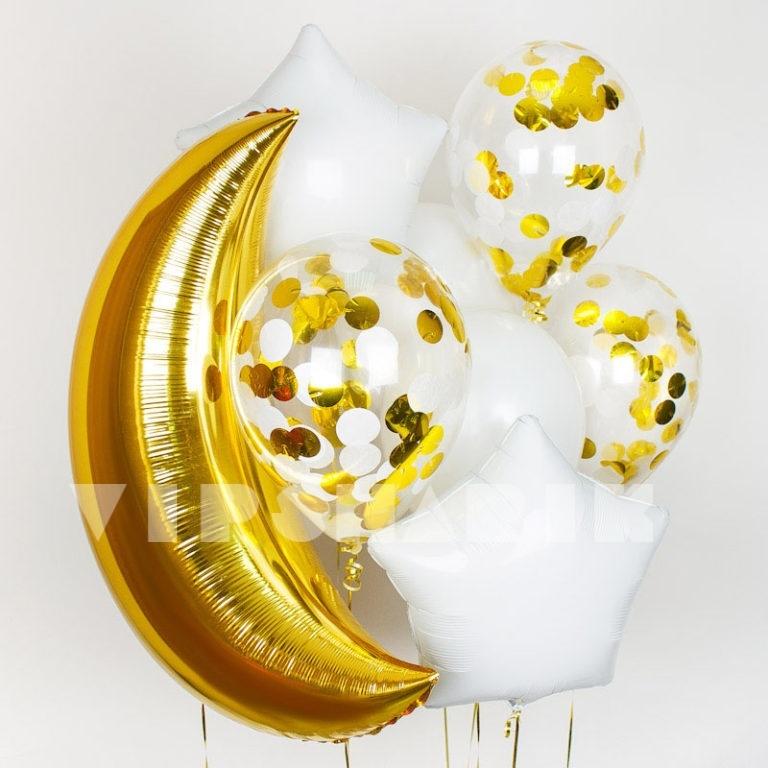 Букет шаров «Белая ночь»