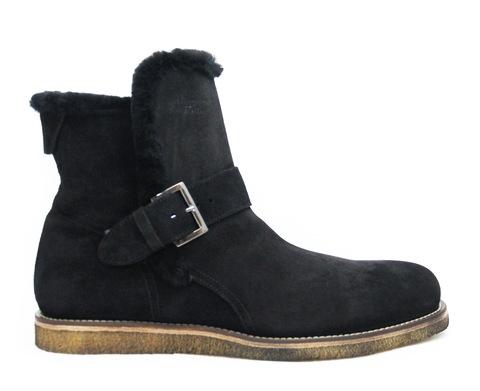 Высокие замшевые ботинки A.Hotto 54083 ч на меху