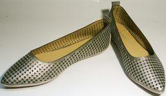 Летние женские туфли без каблука Kluchini 5218 k 365 Titan.