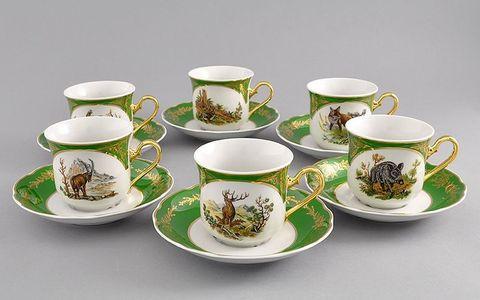 Набор чашек высоких с блюдцами  0,20 л 6 штук Мэри-Энн Leander