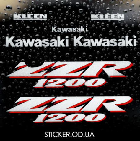 Виниловая наклейка на мотоцикл KAWASAKI ZZR 1200 2002
