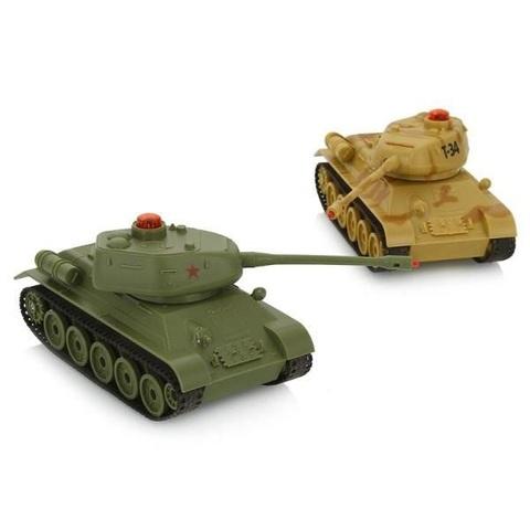 Радиоуправляемый танковый бой Т-34 (в комплекте 2 танка) (код: 50620)