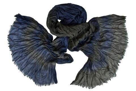 Шарф жатка сине-коричневый 0379