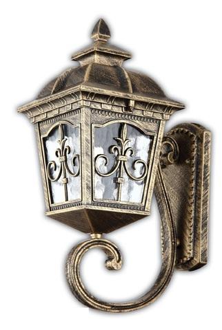 Светильник садово-парковый, 60W 220V E27 черное золото , IP44 , PL4091 (Feron)