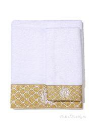 Набор полотенец 2 шт Roberto Cavalli Gold белый
