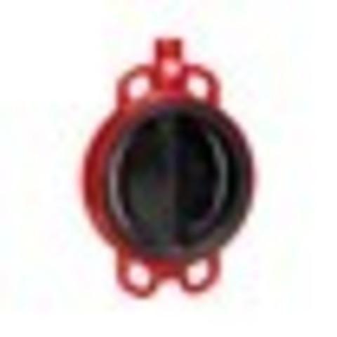 Затвор дисковый поворотный чугун ЗПВЛ Гранвэл Ду 150 Ру16 межфл с рукояткой диск нерж манжета EPDM FLN(w)-5-150-MN-Е ADL BD01A12817