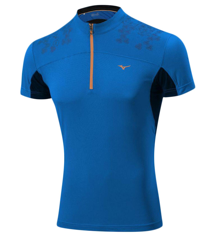 Мужская беговая футболка Mizuno DryLite Hex Tee (J2GA4007 22) синяя