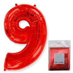 F Цифра 9, Красный, 40''/102 см, 1 шт. в упаковке