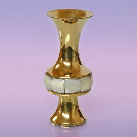 Вазочка  Золотая латунь с перламутром