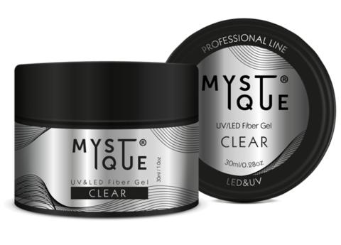 Mystique Однофазный файбер гель, с добавлением стекловолокна «Clear» 30 мл