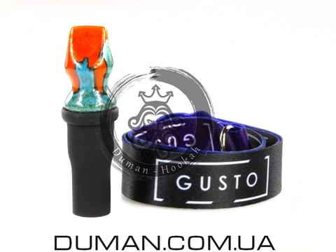 Персональный мундштук Gusto Bowls (Густо Болс) для кальяна |Orange-Green Gusto