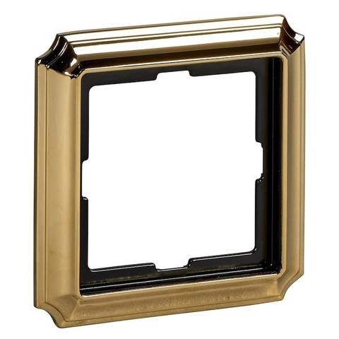 Рамка на 1 пост. Цвет Золото. Merten. Antique System Design. MTN483121