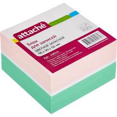 Блок-кубик ATTACHE запасной 9х9х5 цветной блок