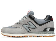 Кроссовки Мужские New Balance 574 Classic Grey Black Suede