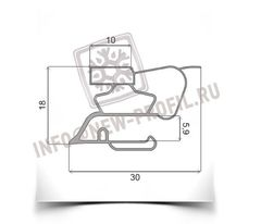 Уплотнитель для холодильника Индезит R36NFG (морозильная камера) Размер  57*57 см Профиль 022