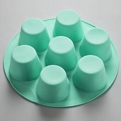 Форма Ø22х5см для выпечки 7 кексов силиконовая