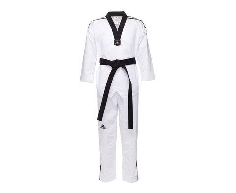 Добок для тхэквондо Adi-Contest 3 белый с черным воротником