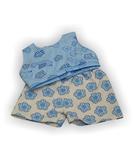 Летний костюмчик - Голубой. Одежда для кукол, пупсов и мягких игрушек.