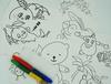 """026_2362 Набор (8шт.) для пальчикового рисования """"Fruit"""""""