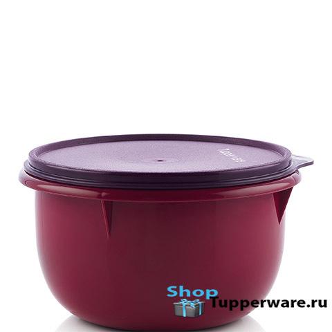 Замесочное блюдо 2л в бордовом цвете
