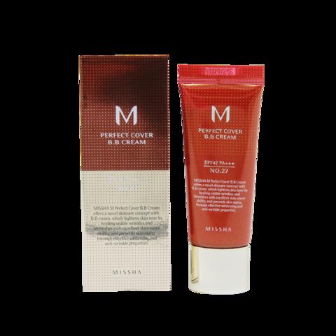 Тональный крем для лица M Perfect Cover BB Cream (No.27), 20 мл